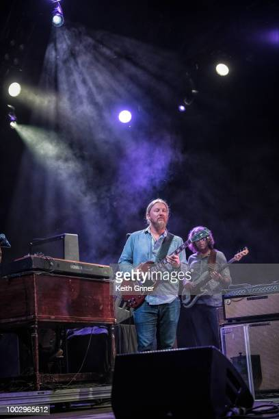 Kofi Burbridge of Tedeschi Trucks Band performs at The Lawn at White River State Park on July 20 2018 in Indianapolis Indiana