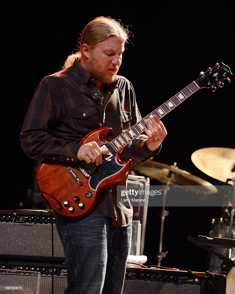 Derek Trucks performs during the Sunshine Blues Festival at Mizner Park Amphitheatre on January 19, 2013 in Boca Raton, Florida.
