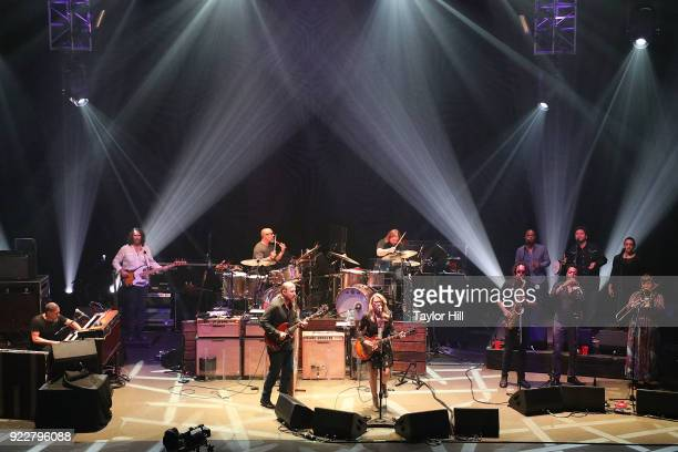 Derek Trucks Susan Tedeschi and the Tedeschi Trucks Band perform at The Capitol Theatre on February 21 2018 in Pt Chester New York