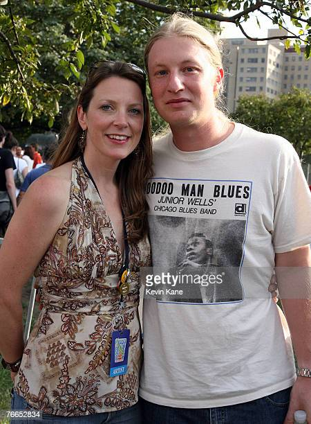 Derek Trucks with his wife SusanTedeschi backstage during Farm Aid 2007 at Randall's Island New York City New York September 9 2007