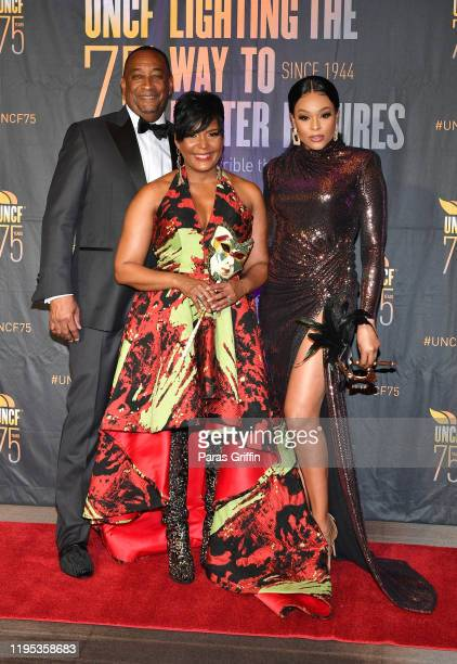Derek W Bottoms Atlanta Mayor Keisha Lance Bottoms and Demtetria McKinney 36th Annual Atlanta UNCF Mayor's Masked Ball at Atlanta Marriott Marquis on...