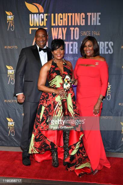Derek W Bottoms Atlanta Mayor Keisha Lance Bottoms and Karyn Greer attend 36th Annual Atlanta UNCF Mayor's Masked Ball at Atlanta Marriott Marquis on...