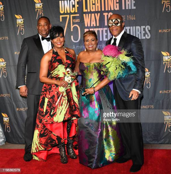 Derek W Bottoms Atlanta Mayor Keisha Lance Bottoms Vicki Palmer and John Palmer attend 36th Annual Atlanta UNCF Mayor's Masked Ball at Atlanta...