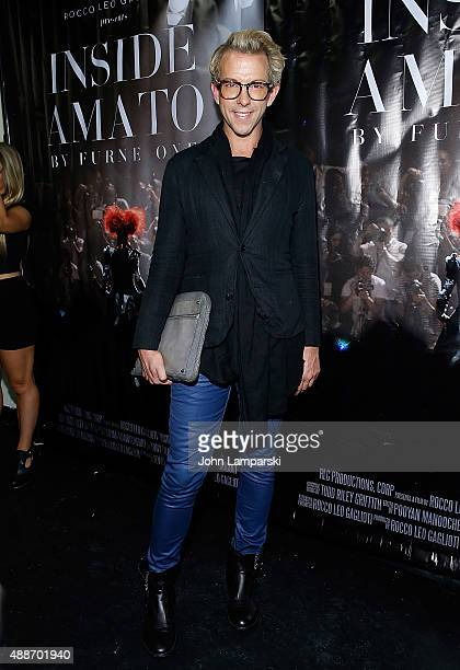 Derek Warburton attends 'Inside Amato' New York premiere at Liberty Theater on September 16 2015 in New York City