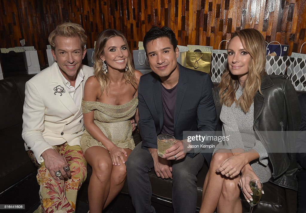 Behind The Scenes Shoot With Audrina Patridge And Mario Lopez For LaPalme Magazine : News Photo