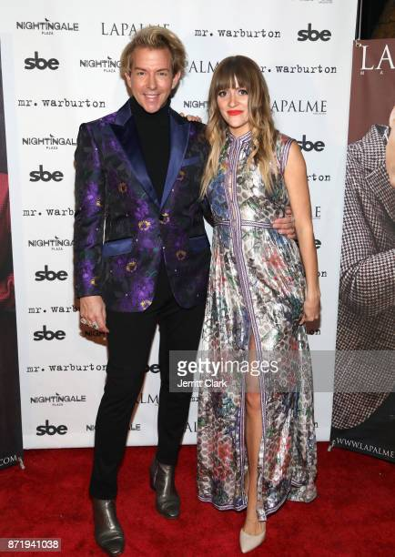 Derek Warburton CoOwner and Creative Director of LAPALME Magazine and BELLSAINT attend LaPalme Magazine fall cover party at Nightingale Plaza on...