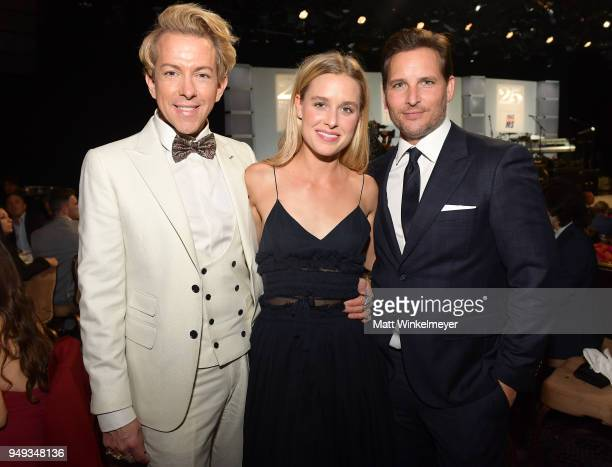 Derek Warburton Peter Facinelli and Lily Anne Harrison at the 25th Annual Race To Erase MS Gala at The Beverly Hilton Hotel on April 20 2018 in...
