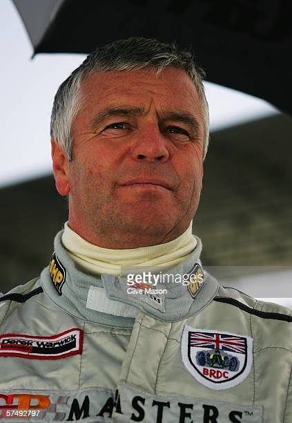 Derek Warwick of Great Britain on the grid before the Grand Prix Masters race at the Losail International Circuit on April 29 in Doha Qatar