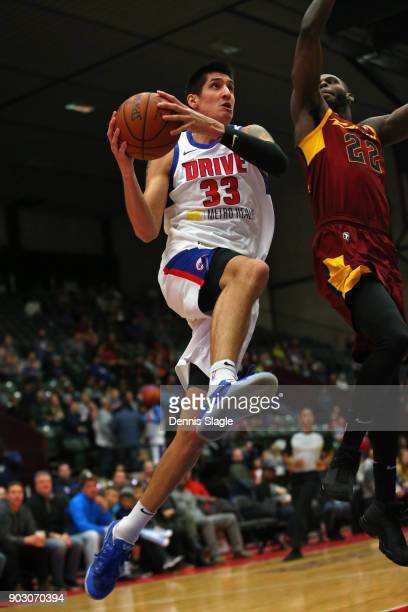 Derek Willis of the Grand Rapids Drive drives to the basket against the Canton Charge at The DeltaPlex Arena for the NBA GLeague on JANUARY 6 2018 in...