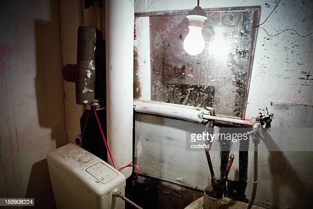 Derelict salle de bains d'un studio d'art