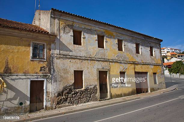 derelict building in monchique, in the algarve, near portimao, portugal  - monchique stock pictures, royalty-free photos & images