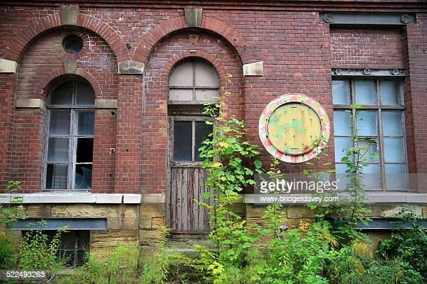 derelict buildings - saxony anhalt stock pictures, royalty-free photos & images