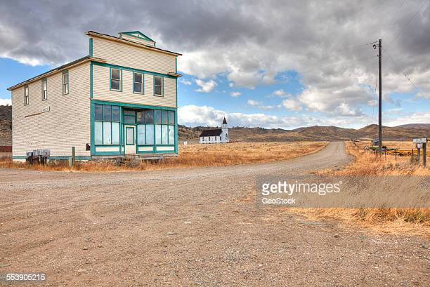 A derelict general store in a ghost town
