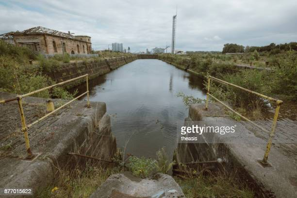 derelict glasgow docks - istock photo stock pictures, royalty-free photos & images