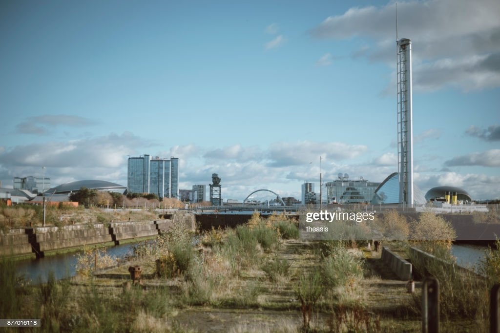 Derelict Glasgow Docks : Stock Photo