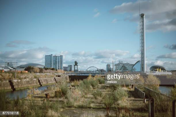 derelict glasgow docks - theasis stock pictures, royalty-free photos & images