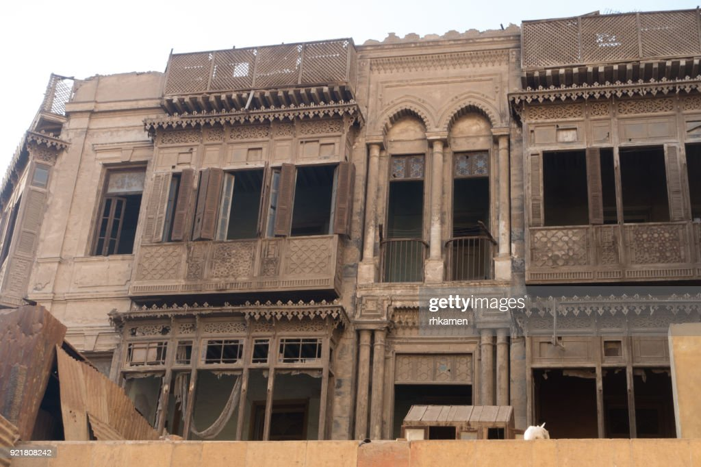 Derelict Historic Building Cairo Egypt Stock Photo