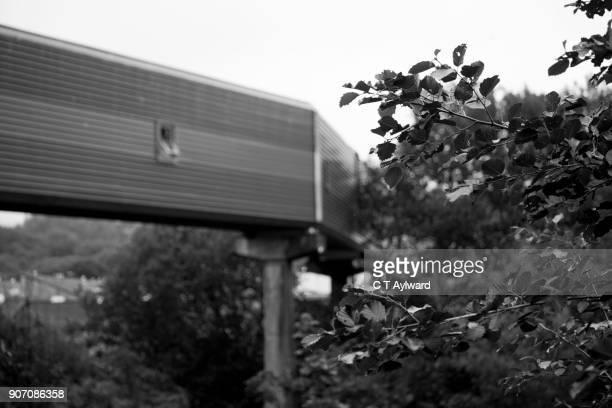 derelict hoover factory merthyr tydfil - welshe cultuur stockfoto's en -beelden
