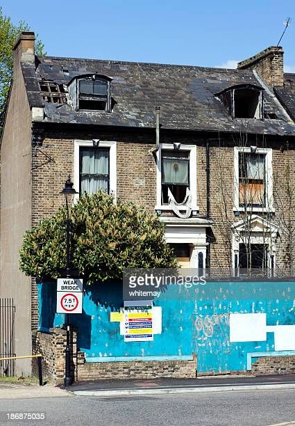 Derelict house in London suburbs