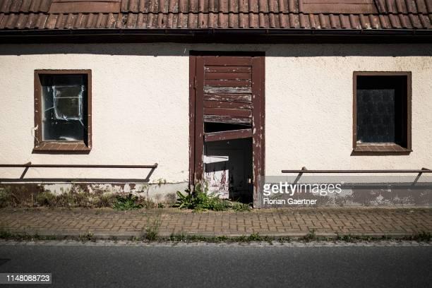 Derelict house is pictured on June 02, 2019 in Klitten, Germany.
