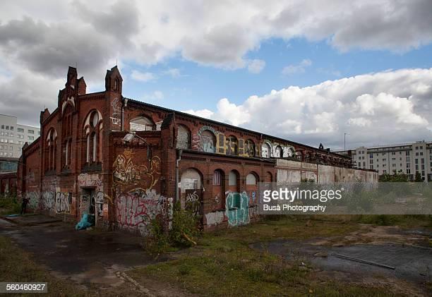 Derelict industrial building in Friedrichshain