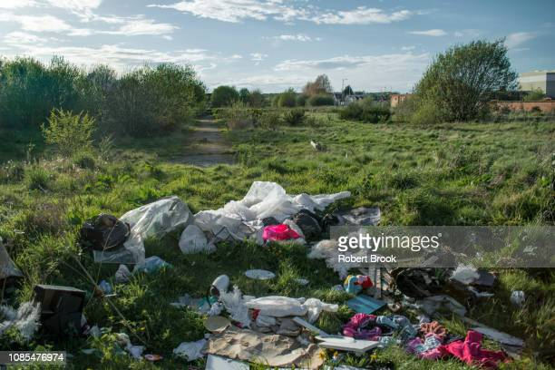 derelict land - garbage dump stock pictures, royalty-free photos & images
