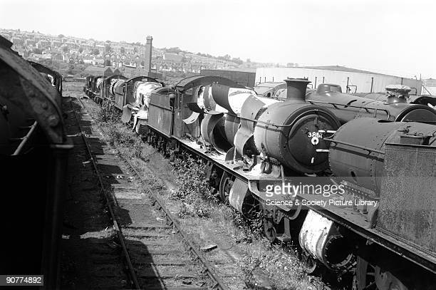 Derelict locomotives at Barry Cardiff by Selwyn PearceHiggins 1977 Steam locomotives were withdrawn from British Railways in 1968 Some locomotives...