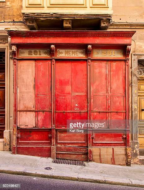 A derelict shop in Valletta in Malta