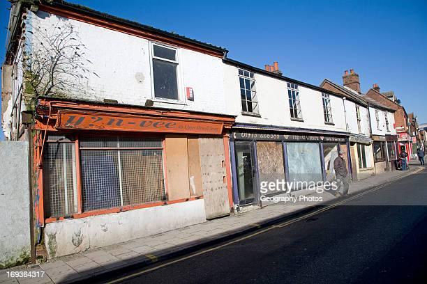 Derelict shops Upper Orwell Street Ipswich Suffolk