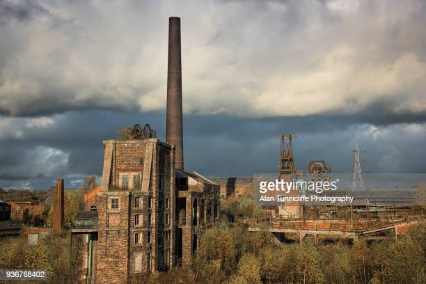 derelict site of chatterley whitfield - stoke on trent stock photos and pictures