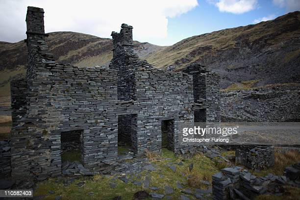 A derelict slate miners building built from slate near Blaenau Ffestiniog is on this year's list bidding for World Heritage Sites status on March 22...