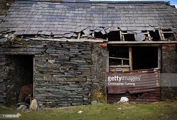 A derelict slate miners building constructed from slate near Blaenau Ffestiniog is on this year's list bidding for World Heritage Sites status on...