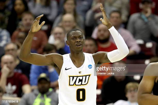 De'Riante Jenkins of the Virginia Commonwealth Rams reacts against the UCF Knights in the second half during the first round of the 2019 NCAA Men's...