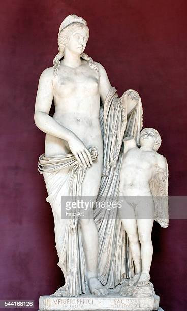 Derived from Praxiteles Socalled 'Venus Felix' type of the Knidian Venus with a head resembling Faustina the Younger Dedicated by Sallustia Orbiana...