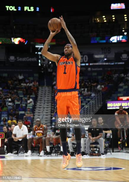 DerMarr Johnson of 3's Company takes a shot during the BIG3 Playoffs at Smoothie King Center on August 25, 2019 in New Orleans, Louisiana.