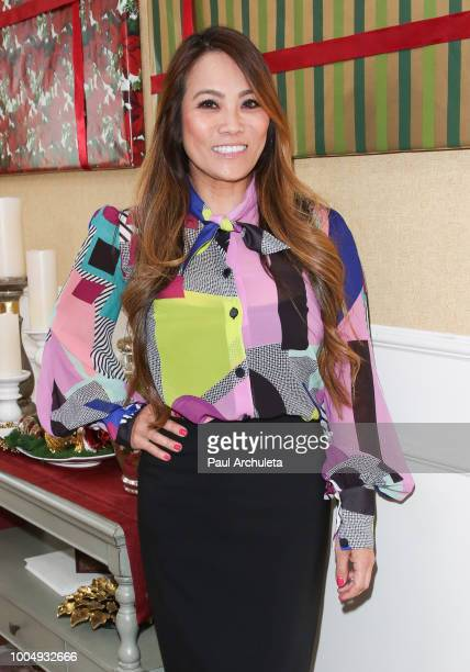 Dermatologist / TV Personality Dr Sandra Lee visits Hallmark's Home Family celebrating 'Christmas In July' at Universal Studios Hollywood on July 24...
