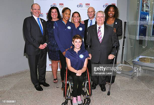 Dermot Boden Susan Hazzard Sanya RichardsRoss Amanda McGrory Christie Rampone Rob Kaler David Olson and Tina Davis attend Citi's Every Step of the...