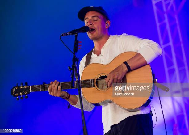 Dermot Kennedy performs at Falls Festival on January 5 2019 in Fremantle Australia
