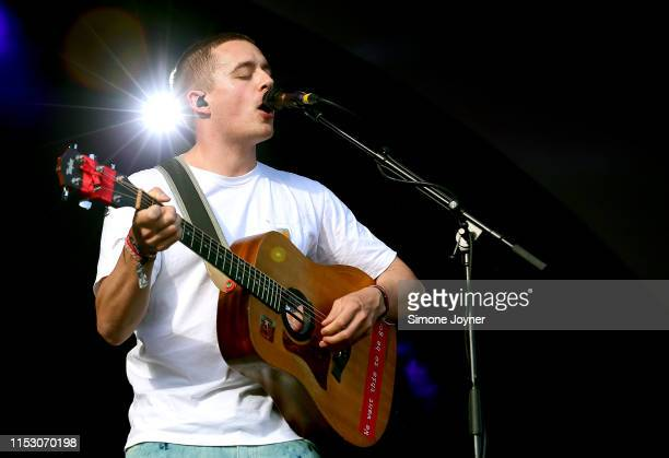 Dermot Kennedy performs live on stage during the All Points East Festival at Victoria Park on June 01 2019 in London England