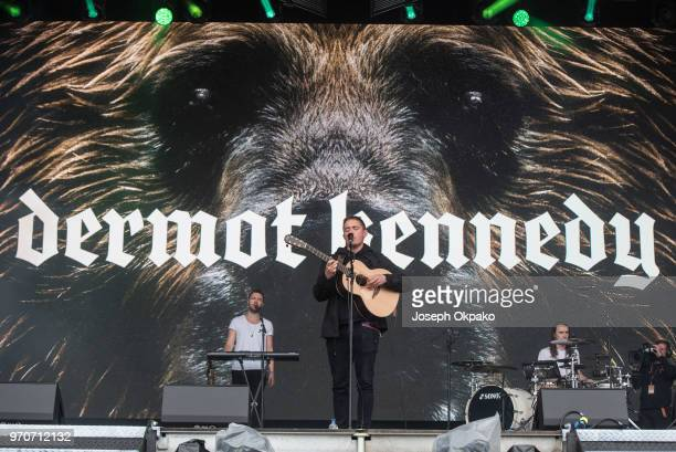 Dermot Kennedy performs on stage on Day 1 of Parklife festival at Heaton Park on June 9 2018 in Manchester England