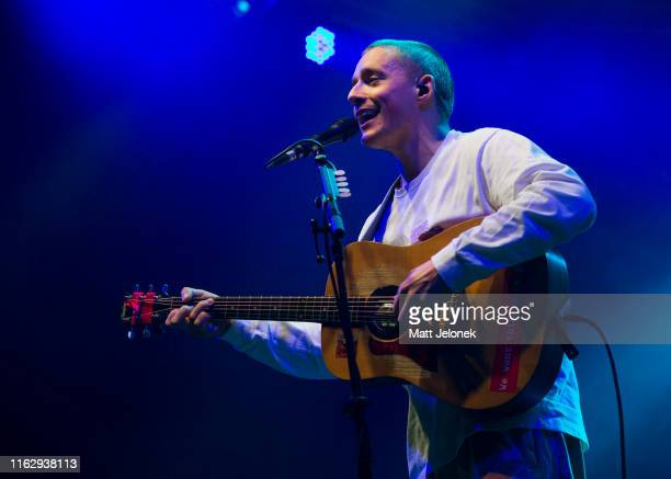 Dermot Kennedy performs on the GW McLennan Tent stage at Splendour In The Grass 2019 on July 19 2019 in Byron Bay Australia