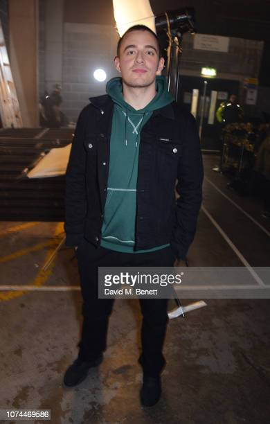 Dermot Kennedy poses backstage at the 'Ellie Goulding for Streets Of London' charity gig at The SSE Arena Wembley on December 20 2018 in London...