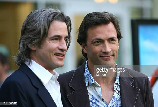 Dermot Mulroney and Andrew Shue during 'Gracie' Los Angeles Premiere Arrivals at The ArcLight in Hollywood California United States