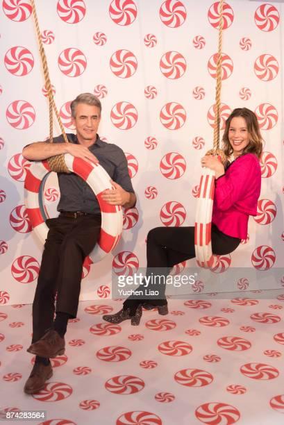 Dermot Mulroney and Ashley Williams attend Hallmark's Museum Of Christmas Opening on November 14 2017 in New York City