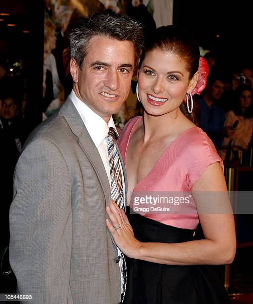 Dermot Mulroney and Debra Messing during The Wedding Date Los Angeles Premiere Arrivals at Universal Studios Cinemas in Universal City California...