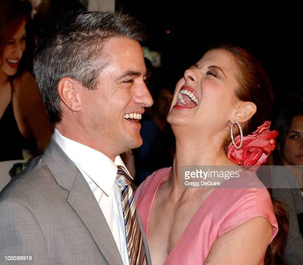 Dermot Mulroney and Debra Messing during 'The Wedding Date' Los Angeles Premiere Arrivals at Universal Studios Cinemas in Universal City California...