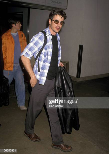 Dermot Mulroney and KD Lang during Dermot Mulroney Sighting at Los Angeles International Airport April 18 1997 at Los Angeles International Airport...