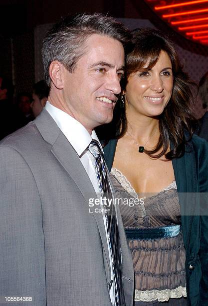 Dermot Mulroney and Nathalie Marciano during The Wedding Date Los Angeles Premiere Red Carpet at Universal Studios in Hollywood California United...