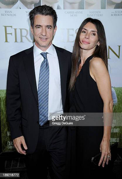 Dermot Mulroney and Tharita Catulle arrive at the Los Angeles Premiere of Fireflies In The Garden at the Pacific Theatre at The Grove on October 12...