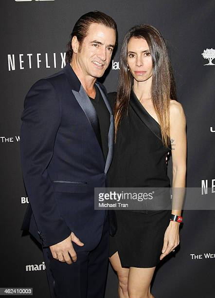 Dermot Mulroney and Tharita Catulle arrive at The Weinstein Company and NetFlix 2014 Golden Globe Awards after party held on January 12 2014 in...